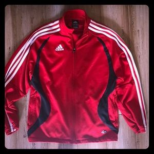Adidas boys medium zip up track jacket sweatshirt